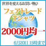 フェアトレード☆オーガニックコットンTシャツ 2000円均一!6/20 15時まで
